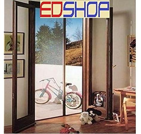 Cilvani - Mosquitera enrollable de 150 x 250 cm para puertas y ventanas, disponible en color blanco, marrón o bronce: Amazon.es: Bricolaje y herramientas