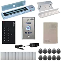 Visionis FPC-5327 One door Access Control Inswinging Door 600lbs Maglock with VIS-3002 Indoor use only Keypad / Reader Standalone no software EM Card Compatible 500 users kit