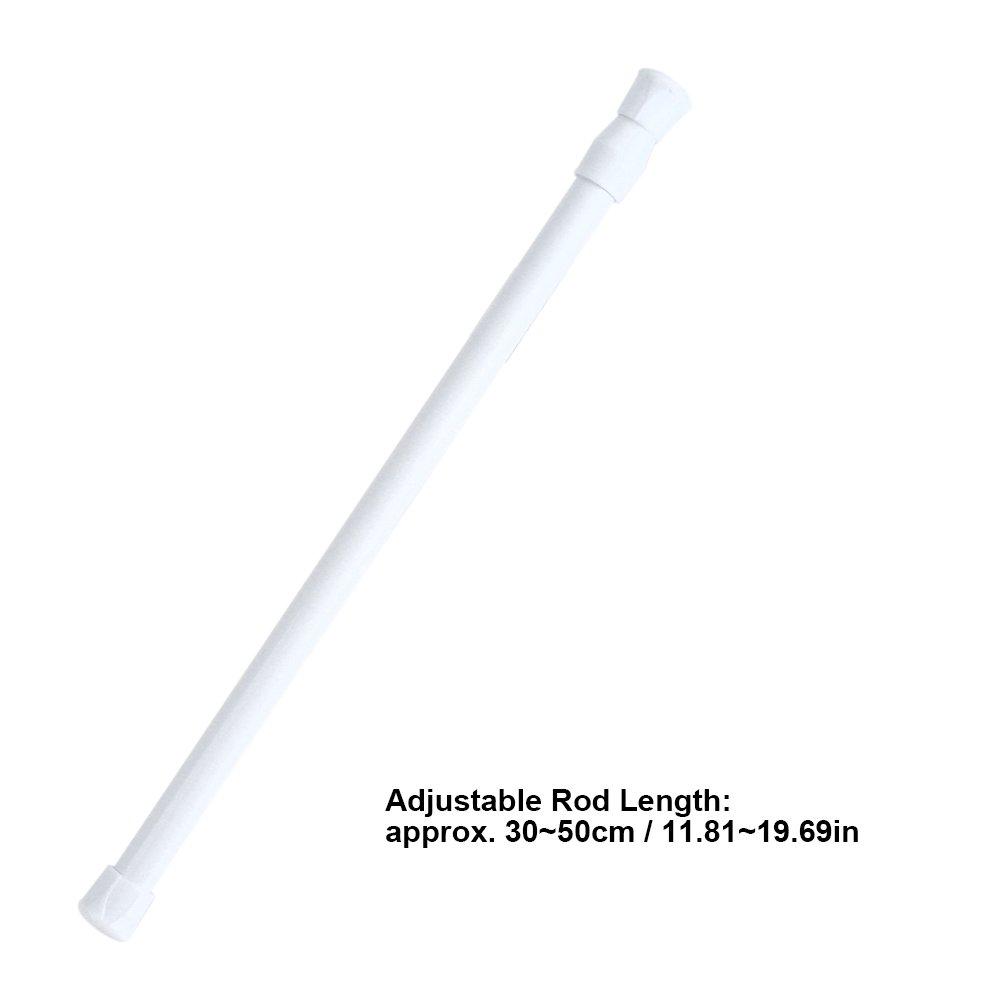 30-50 cm Regolabile a Scomparsa Asta di Tensione caricata a Molla Asta allungabile per Tenda Armadio per Binario Pasamer Bastone per Tenda Doccia Regolabile