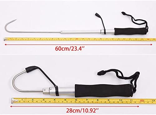 Telescopic Retractable Fish Gaff Stainless Ice Sea Fishing Spear Hook Tackle New