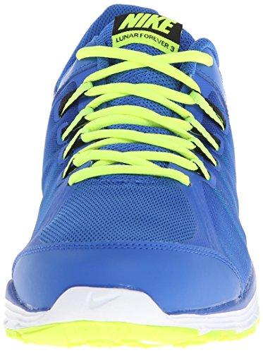 Nike Lunar Forever 3 - Zapatillas de running Hombre Azul / Negro / Blanco / Verde (Hyper Cobalt / Black-White-Volt)
