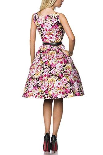 Kleid Schwarz Gemustert Gürtel Kleid mit mit Gürtel Gemustert Schwarz qRfwIdS
