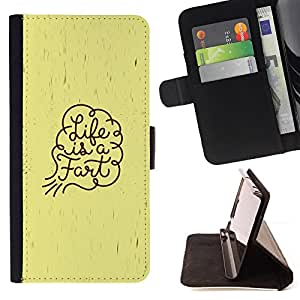 DEVIL CASE - FOR Samsung Galaxy S4 Mini i9190 - Life Funny Quote Fart Art Spiritual Slogan - Style PU Leather Case Wallet Flip Stand Flap Closure Cover