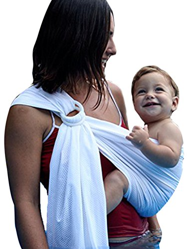 Ring Sling Baby Wrap Carrier for Newborn and Toddler, Lightweight Breathable Summer, Swimming, Pool, Beach by Clothink