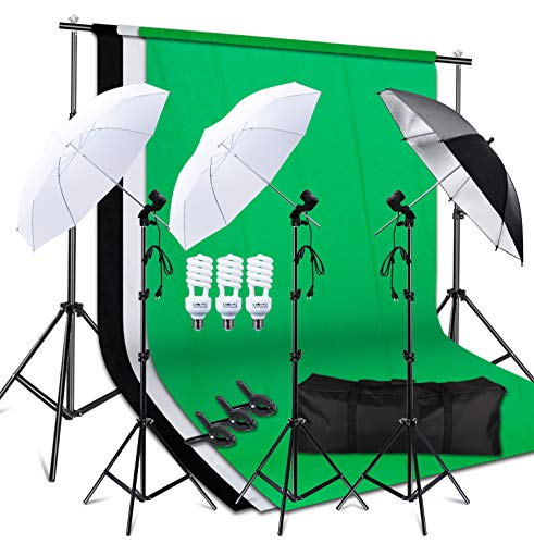 Photo Studio Double Off Camera Speedlight Flash Umbrella Kit, Photography Tripod Brackets for Photography Photo Video Studio Lighting Flash Translucent White Soft Umbrella