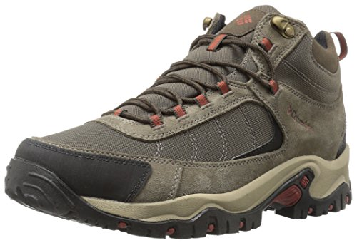 Columbia Men's Granite Ridge MID Waterproof Hiking Shoe, Mud, Rusty, 13 2E US