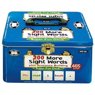 200 More Vocabulary Sight Words Plus Sentence Building Fun Deck - Super Duper Educational Learning Toy for Kids: Toys & Games