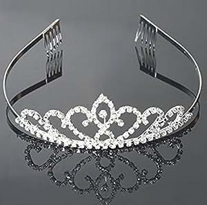 USA Seller Flower Style Tiara Crown Headband Comb Pin Charming Rhinestone Wedding Bridal Bride Party Birthday Tiaras