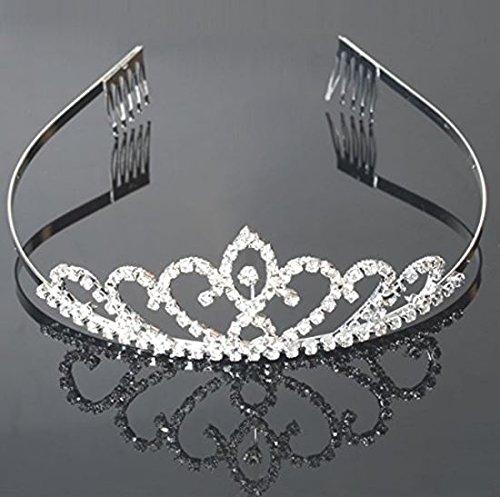 - USA Seller Flower Style Tiara Crown Headband Comb Pin Charming Rhinestone Wedding Bridal Bride Party Birthday Tiaras