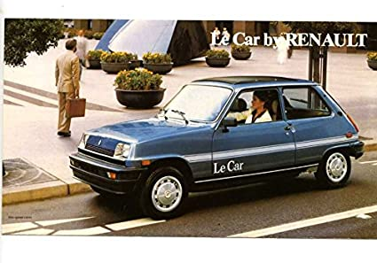 1980 Renault 5 Le Car Small Brochure Canada