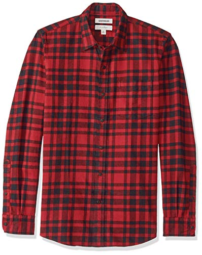 Brushed Plaid Shirt - Goodthreads Men's Slim-Fit Long-Sleeve Brushed