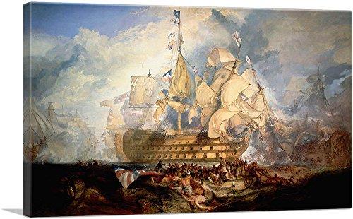 ARTCANVAS Battle of Trafalgar 1805 Canvas Art Print by J. M. W. Turner- 26