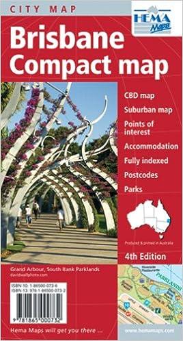 Compact State Map.Brisbane Qld Compact Map Australian State Maps Hema