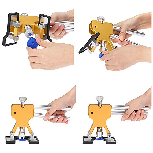 YOOHE Auto Paintless Dent Removal Tools Kit - Gold Dent Removal Kit Dent Puller with Pulling Tabs for Car Hail Dent Removal and Door Dings Dent Repair by YOOHE (Image #3)