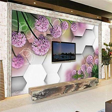 Wapel Custom Photo Wallpaper Mural 3D Background Wall Dream Purple Chive Flower Para Sala Atacado