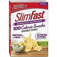 Slim Fast Advanced Nutrition 100 Calorie Snacks, Baked Crisps, Sour Cream & Onion, 5 Count