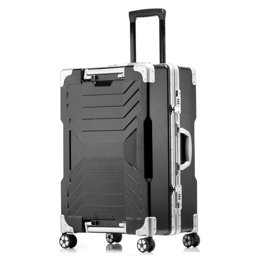 トローリーケースユニバーサルホイールスーツケース学生パスワードボックススーツケース女性スーツケース (色 : 黒, サイズ さいず : 20inches) B07L6F8XQH 黒 20inches