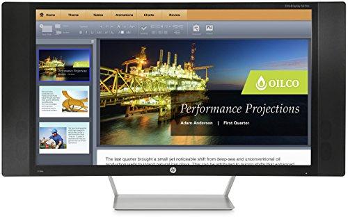 HP EliteDisplay S270c (K1M38AT) 68,6 cm (27 Zoll) Curved Monitor (VGA, HDMI, 8ms Reaktionszeit Bildschirmdiagonale, gebogener Bildschirm) schwarz