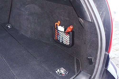 51FlrHjM5wL HR Universal Auto Ablagenetz 25cm - Netz Tasche zum Verstauen und Sortieren im Fahrerraum - Schwarzes Ablagefach aus…