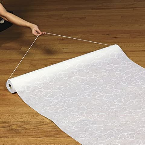 Polyester White Two Hearts Wedding Aisle Runner