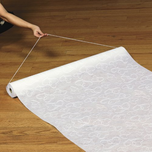 Polyester White Hearts Wedding Runner