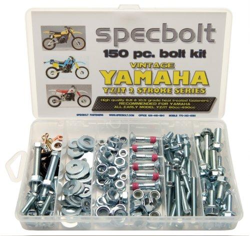(150pc Specbolt Yamaha vintage YZ IT Bolt Kit 125 175 200 250 400 425 465 490 500 Maintenance Restoration YZ125 IT175 IT200 YZ250 IT250 MX360 YZ400 IT400 IT425 YZ465 IT465 YZ490 IT490 WR500 MX DT GT WR)