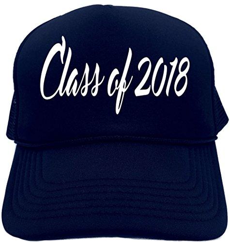 Signature Depot Funny Trucker Hat (Class of 2018 (graduation) cursive) Unisex Adult Foam Cap