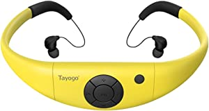 Swimming MP3, 8GB Waterproof MP3 Player for Swimming with Shuffle Feature-Yellow