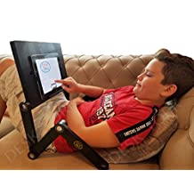 NEW - Desk York Portable Table For Tablet/ipad/Computer - Adjustable Light Stand For Laptop - Ergonomic TV Bed Lap Tray-Black by Desk York