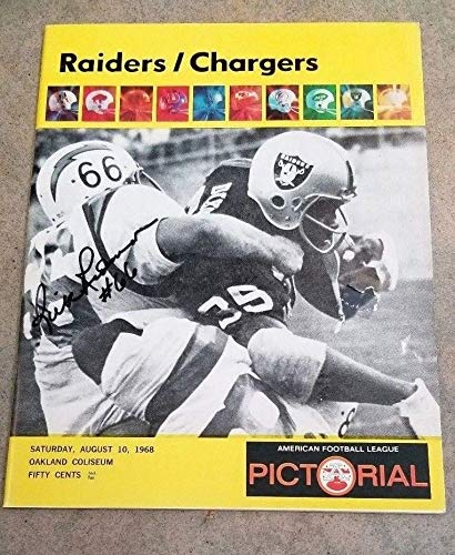 AFL FOOTBALL PROGRAM RAIDERS AT CHARGERS - 1968 - AUTOGRAPHED BY RICK REDMAN (Best Ebay Listing Program)