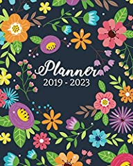 January 2019 - December 2023 .Perfect planner to keep organized in 5 year with stunning planner! This beautiful planner is printed on high quality interior stock with a gorgeous Flowers cover. Perfect for any use. You can use for personal, ...