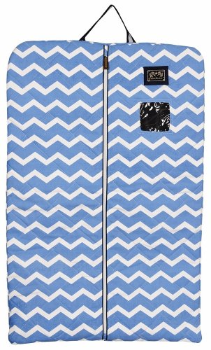 Equine Couture Abby Garment Bag, Light Blue/Navy, Standard
