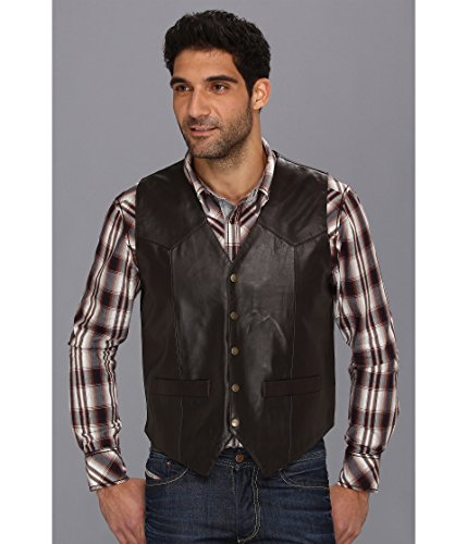 Roper Men's Lamb Skin Western Vest with Yokes Brown Outerwear MD ()