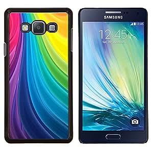 Líneas Vortex Seda paleta del arco iris gay- Metal de aluminio y de plástico duro Caja del teléfono - Negro - Samsung Galaxy A7 / SM-A700