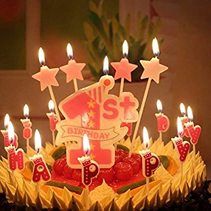 4Pcs Decorative Happy Birthday Candle Star Sticks Design Cake Topper Creative Party Decor Supplies For Girls Amazonin