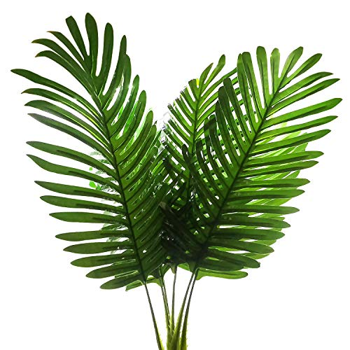 SLanC 5 Pack Palm Artificial Plants Leaves decorations faux large Tropical Palm Leaves Imitation Ferns Artificial Plants Leaf for Home Kitchen Party Flowers Arrangement Wedding Decorations]()