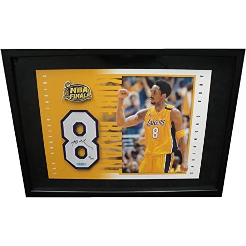super popular 6a4f7 7bcb3 Kobe Bryant Signed Autograph Floating Jersey number NBA ...
