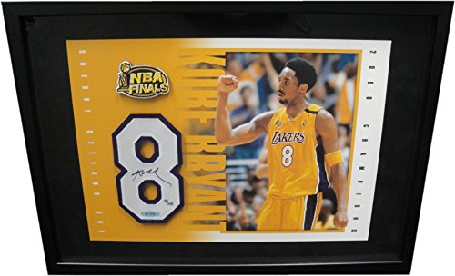 Kobe Bryant Signed Autograph Floating Jersey number NBA Finals Uda Framed /208