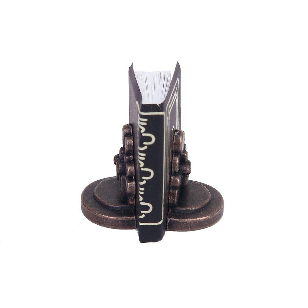 1/12 Puppenhaus Miniatur schwarzes Buch mit zwei Bücherregal Generic