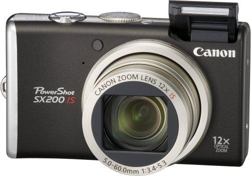 Canon デジタルカメラ PowerShot (パワーショット) SX200 IS ブラック PSSX200IS(BK)
