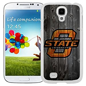 Fashionable And Unique Designed With NCAA Big 12 Conference Big12 Football Oklahoma State Cowboys 10 Protective Cell Phone Hardshell Cover Case For Samsung Galaxy S4 I9500 i337 M919 i545 r970 l720 Phone Case White