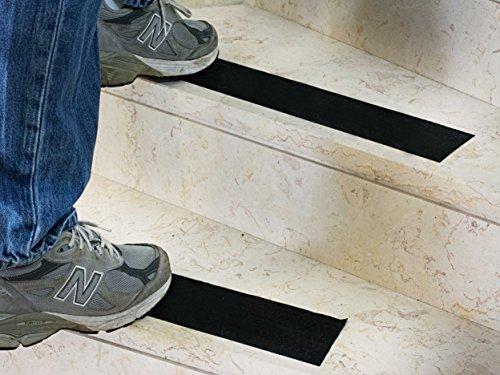 EdenProducts Heavy Duty Anti Slip Traction Tape, 4 Inch x 33 Foot (Other Sizes Available) Grip Tape Grit Non Slip, Outdoor Non Skid Treads, High Traction Friction Abrasive Adhesive Stairs Step - Black