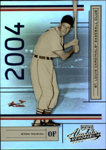 - 2004 Playoff Absolute Memorabilia Baseball Card (#/1349) #181 Stan Musial