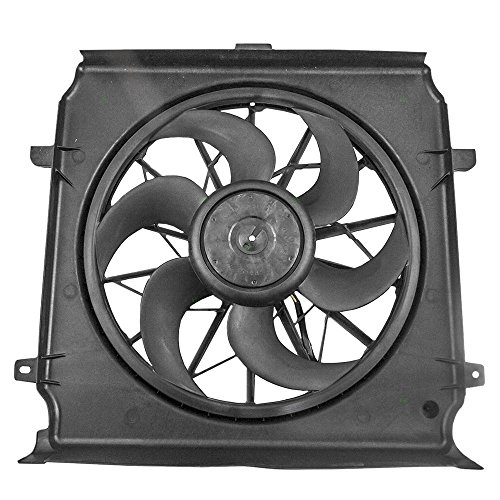 Radiator Cooling Fan Motor Assembly Replacement for 04-07 Jeep Liberty 3.7L 2.4L 55037692AB
