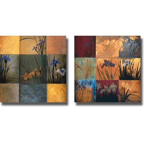 - Iris Nine Patch I & II by Don Li-Leger 2-pc Premium Stretched Canvas Set (Ready to Hang)