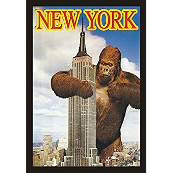 King kong empire state building poster