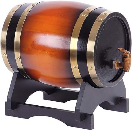 Opinión sobre SS mutong Barril de Roble Dispensador de Whisky Estilo de Barril de Roble de Madera for Almacenar Vino, Brandy, Whisky, Tequila Vino, Cerveza, Sidra, Whisky. (Color : A, Size : 10L)
