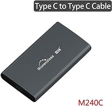traline M.2 - Carcasa para Disco Duro SSD (Tipo C, USB 3.0, MSATA ...
