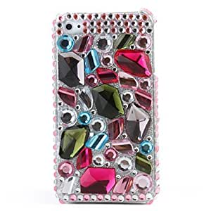 DD Gorgeous Protective PVC Case with Crystals Cover for iPhone 4, 4S , Pink