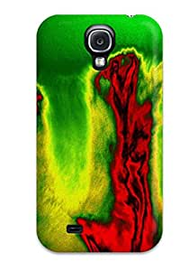 High Impact Dirt/shock Proof Case Cover For Galaxy S4 (abstract Red )